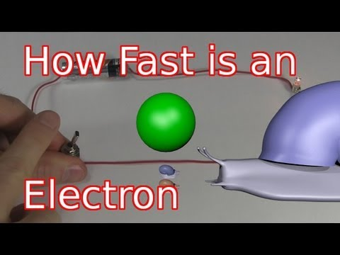 electron - How fast is an electron in a wire and how fast is electricity? An electron moves surprisingly slow, slower than a snail, while electricity moves at near the ...