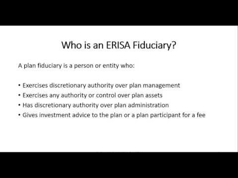 ERISA Fiduciary Responsibilities Part 1 w5 v1