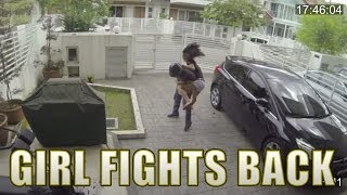 Girl Fights Back Snatch Thief With A Knee To The Stomach