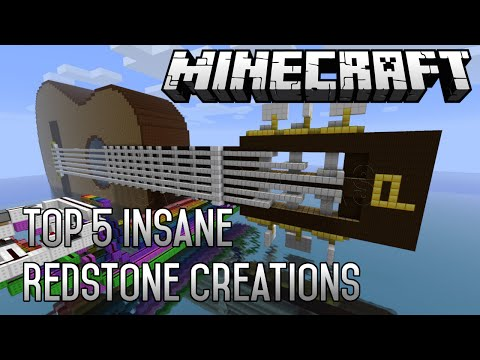 minecraft - the best 5 construction of all time