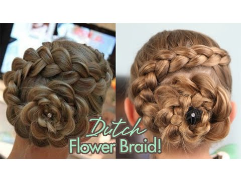 Dutch Flower Braid %7C Updos %7C Cute Girls Hairstyles 