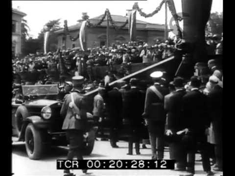 I sovrani inaugurano il monumento a Carducci