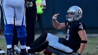 Watch: Derek Carr BREAKS LEG, Out Indefinitely For Raiders