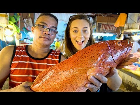 FILIPINO SEAFOOD: We Love The Philippines!! PALAWAN FISH + DAVAO DURIAN in Manila! PINOY STREET FOOD