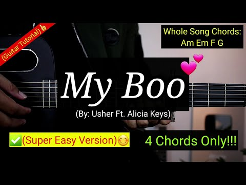 My Boo - Usher | Guitar Tutorial (Super Easy Chords)😍