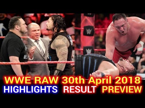 WWE Monday Night Raw 30th April 2018 Highlights Hindi Preview - Brock Lesnar vs Roman Reigns Rematch