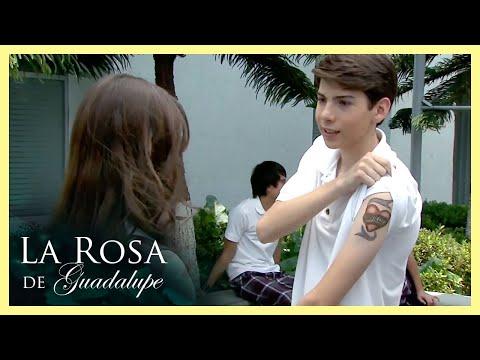 La Rosa de Guadalupe: Omar se tatúa el nombre de su novia por amor | Los amores de la vida