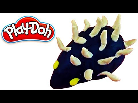 How To Make a Hedgehog with Play Doh  Clay Modeling for Children