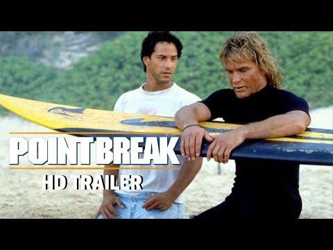 POINT BREAK (1991) Trailer #1 - Patrick Swayze - Keanu Reeves