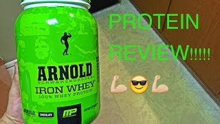 My review of Musclepharm's Arnold Iron Whey Protein.You can get this product from MusclePharm at your local WalMart!