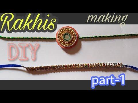 DIY Rakhi making ideas at home