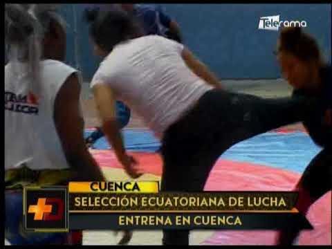 Selección ecuatoriana de lucha entrena en Cuenca