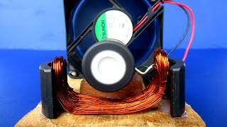 Free energy generator Motor with PC Fan Very Easy - Science project Experiment at home