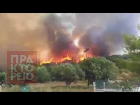 Στις αυλές των σπιτιών η φωτιά στην Αναφωνήτρια Ζακύνθου