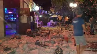 Mayor George Kyritsis told CNN Greece, at least two people were killed early Friday when the Greek island of Kos was shaken by...