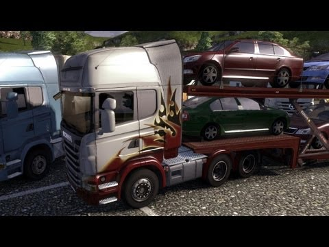 Euro Truck Simulator 2 - Scania R480 6x4 Transporting Cars #2