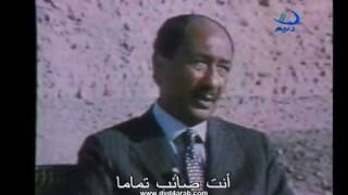 Sadat Interview with ABC Channel with Arabic Subtitle 5 لقاء نادر للسادات