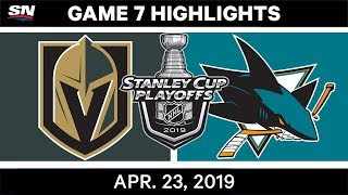 NHL Highlights | Golden Knights vs. Sharks, Game 7 - April 23, 2019 by Sportsnet Canada