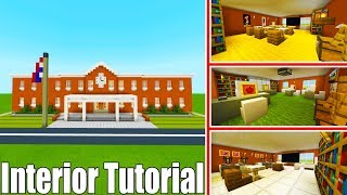 "Minecraft Tutorial: How To Make A School Part 2 Interior ""2019 City Tutorial"""