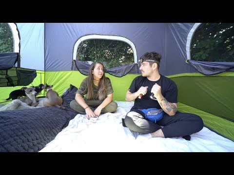 We Went Camping In Our Backyard