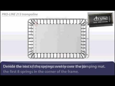 AVYNA PRO-LINE 213 Combi-Pack Rechthoek 2m75 x 1m90 | Montage trampoline