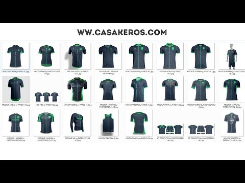 Descarga - Mega Pack - Template Camiseta De Fútbol - 24 HD PSD