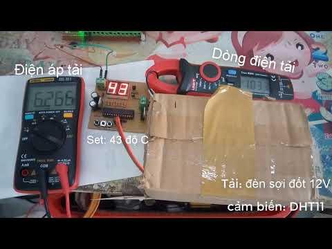 Ổn định nhiệt độ dùng ATMEGA8 + DHT11 (PID) - Thời lượng: 13 phút.