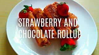 CHOCOLATE STRAWBERRY ROLLUP | NUTELLA RECIPE | DESSERT RECIPE WITH ERYCA