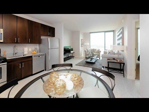 A sunny 1-bedroom at the new Vantage Oak Park apartments