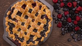 Berry Pie with Lattice Top Recipe by Home Cooking Adventure