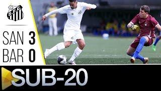 Goleada dos Meninos da Vila! O Sub-20 do Santos FC recebeu em casa a equipe do Barueri, e não deu chance para o adversário: 3 a 0 pro Peixe, com ...
