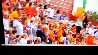 Clip of Ireland walking into the stadium.
