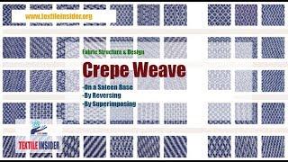 Crepe Weave।।Satin Derivative।।Fabric Structure Design।।TEXTILE INSIDER।।2018