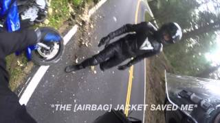 Video Motorcycle Crash with a Rider wearing Helite Airbag Protection MP3, 3GP, MP4, WEBM, AVI, FLV Oktober 2017