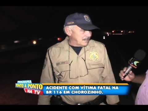 Ciclista morre atropelado na BR-116 em Chorozinho.