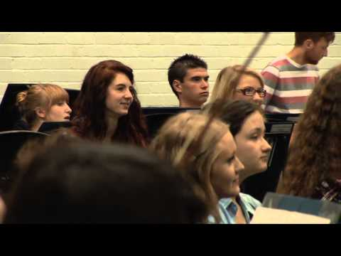 Nicola Benedetti rehearsing with The National Youth Orchestra Scotland, Strathallan, Perth 2012