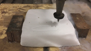 Dry Ice vs 60,000 PSI Waterjet - Dry Ice Experiments - waterjet cutting explained - Interesting