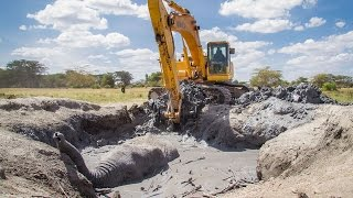 Video Dramatic Rescue Of An Elephant Stuck In Mud MP3, 3GP, MP4, WEBM, AVI, FLV September 2017