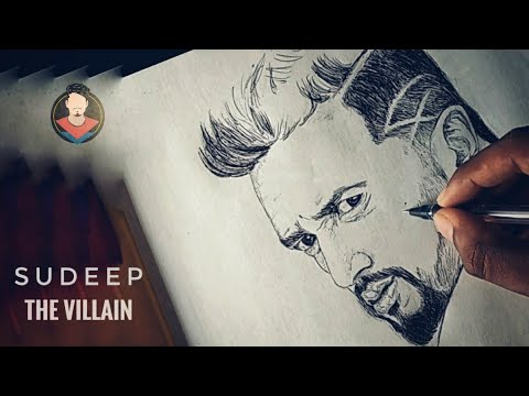 Video Sudeep | the villain | upcoming movie | ball pen drawing download in MP3, 3GP, MP4, WEBM, AVI, FLV January 2017
