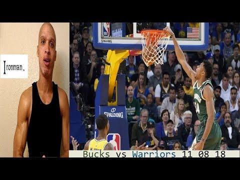 Bucks vs Warriors 11 08 REACTION Greek Freak Giannis KD Kevin Durant Steph Curry Klay Ironman theLot