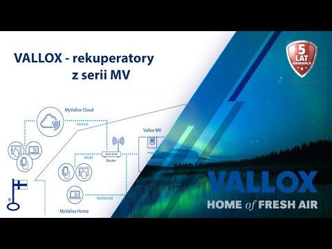 Nowoczesna, innowacyjna centrala rekuperacyjna Vallox z serii MV