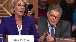 Al Franken Embarrasses Trump's Education Pick full download video download mp3 download music download