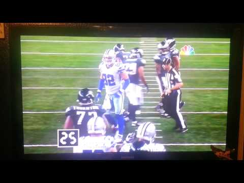 Cowboys get cheated on play clock.