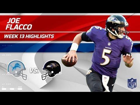 Video: Joe Flacco Tosses 2 TDs & 269 Yards vs. Detroit! | Lions vs. Ravens | Wk 13 Player Highlights