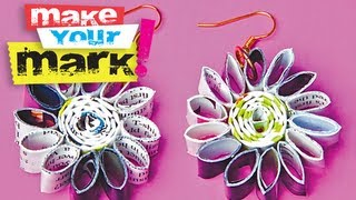 How to make recycled magazine page earrings: Fashion DIY - YouTube
