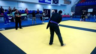 This was a quick, but great fight between purple belts. Check it out! Allout Fight Shop.