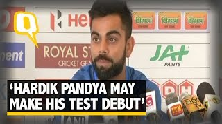 India's captain Virat Kohli said that allrounder Hardik Pandya make his Test debut in the first match of the Test series at Galle on ...