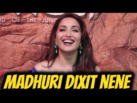 Gorgeous Madhuri Dixit Nene At Special Screening of Netfix's film ' Mowgli'