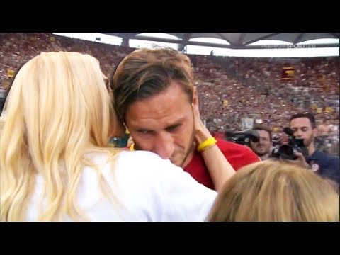 Francesco Totti Farewell Last Game For AS ROMA • Football Emotional Moment 2017