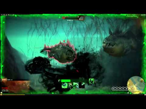 gw2 underwater - Jon Peters steers us through a dangerous underwater world in Guild Wars 2. For more on this game, check out: http://www.gamespot.com/6321038.